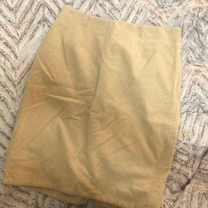 Maeve corduroy pencil skirt
